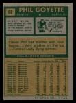 1971 Topps #88  Phil Goyette  Back Thumbnail