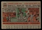 1956 Topps #250  Larry Doby  Back Thumbnail