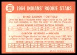 1964 Topps #499   -  Chico Salmon / Gordon Seyfried Indians Rookies Back Thumbnail