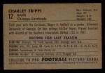 1952 Bowman Small #12  Charley Trippi  Back Thumbnail