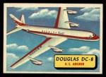1957 Topps Planes #12 BLU  Douglas Dc-8 Front Thumbnail