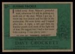 1956 Topps Davy Crockett Green Back #37   Flying Tackle  Back Thumbnail