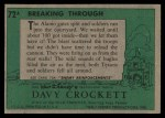 1956 Topps Davy Crockett Green Back #72   Breaking Through  Back Thumbnail