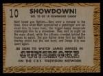 1958 Topps TV Westerns #10   Showdown!  Back Thumbnail