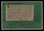 1956 Topps Davy Crockett Green Back #36   Davy's Down!  Back Thumbnail