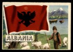 1956 Topps Flags of the World #27   Albania Front Thumbnail