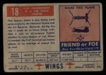 1952 Topps Wings #18   F-47 Thunderbolt Back Thumbnail