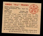 1950 Bowman #96  Virgil Trucks  Back Thumbnail
