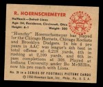 1950 Bowman #39  Bob Hoernschemeyer  Back Thumbnail