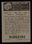 1951 Topps Ringside #57  Bernard Docusen  Back Thumbnail