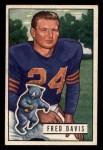 1951 Bowman #86  Fred Davis  Front Thumbnail