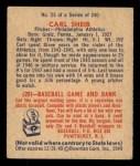 1949 Bowman #25  Carl Scheib  Back Thumbnail