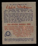 1949 Bowman #142  Eddie Waitkus  Back Thumbnail