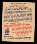 1949 Bowman #55  Eddie Joost  Back Thumbnail