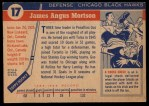 1954 Topps #17  Gus Mortson  Back Thumbnail