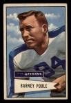 1952 Bowman Small #11  Barney Poole  Front Thumbnail