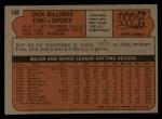 1972 Topps #148  Dick Billings  Back Thumbnail