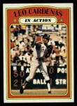 1972 Topps #562   -  Leo 'Chico' Cardenas In Action Front Thumbnail