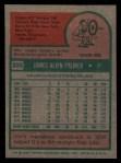 1975 Topps #335  Jim Palmer  Back Thumbnail