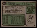 1974 Topps #305  Tito Fuentes  Back Thumbnail