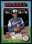 1975 Topps #595  Joe Niekro  Front Thumbnail