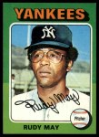 1975 Topps Mini #321  Rudy May  Front Thumbnail