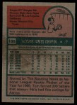 1975 Topps #188  Tom Griffin  Back Thumbnail