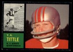 1962 Topps #102  Y.A. Tittle  Front Thumbnail