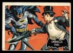 1966 Topps Batman Black Bat #23   Umbrella Duel Front Thumbnail