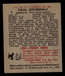 1948 Bowman #28  Paul Governali  Back Thumbnail