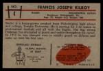 1953 Bowman #4  Bucko Kilroy  Back Thumbnail