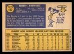 1970 Topps #402  Ellie Rodriguez  Back Thumbnail