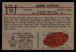 1953 Bowman #80  Jim Dooley  Back Thumbnail