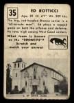 1951 Topps Magic #35  Ed Rotticci  Back Thumbnail