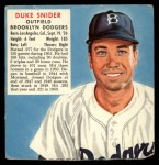1952 Red Man #21 NL x Duke Snider  Front Thumbnail