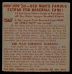 1953 Red Man #8 NL x Sal Maglie  Back Thumbnail