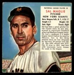 1953 Red Man #8 NL x Sal Maglie  Front Thumbnail