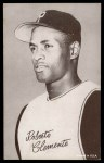 1962 Exhibits Stat Back  Roberto Clemente  Front Thumbnail