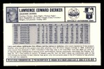 1973 Kellogg's #53  Larry Dierker  Back Thumbnail