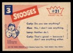 1959 Fleer Three Stooges #21   Peek boo Back Thumbnail