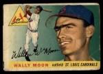 1955 Topps #67 xDOT  Wally Moon  Front Thumbnail