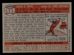 1957 Topps #111  Hal R. Smith  Back Thumbnail