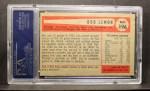 1954 Bowman #196  Bob Lemon  Back Thumbnail