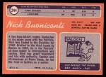 1970 Topps #244  Nick Buoniconti  Back Thumbnail