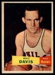 1957 Topps #49  Walter Davis  Front Thumbnail