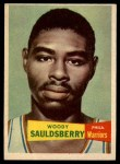 1957 Topps #34  Woody Sauldsberry  Front Thumbnail
