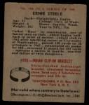 1948 Bowman #106  Ernie Steele  Back Thumbnail