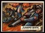 1962 Topps Civil War News #65   Flaming Death Front Thumbnail