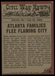 1962 Topps Civil War News #75   The Family Flees Back Thumbnail