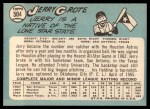 1965 Topps #504  Jerry Grote  Back Thumbnail